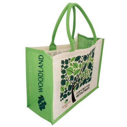 Woodland Trust jute shopping bag 'Life's Better With Trees' - more eco charity Christmas gifts for at http://www.charitychoice.co.uk/blog/charity-christmas-gifts-for-eco-warriors/113 @Woodland Trust
