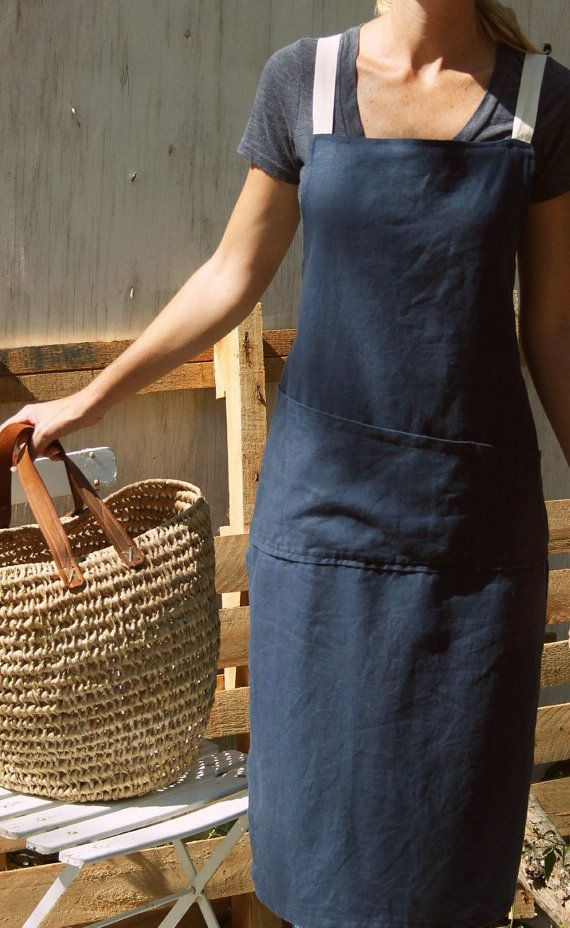 Full Linen Apron by RetroHome on Etsy, $60.00