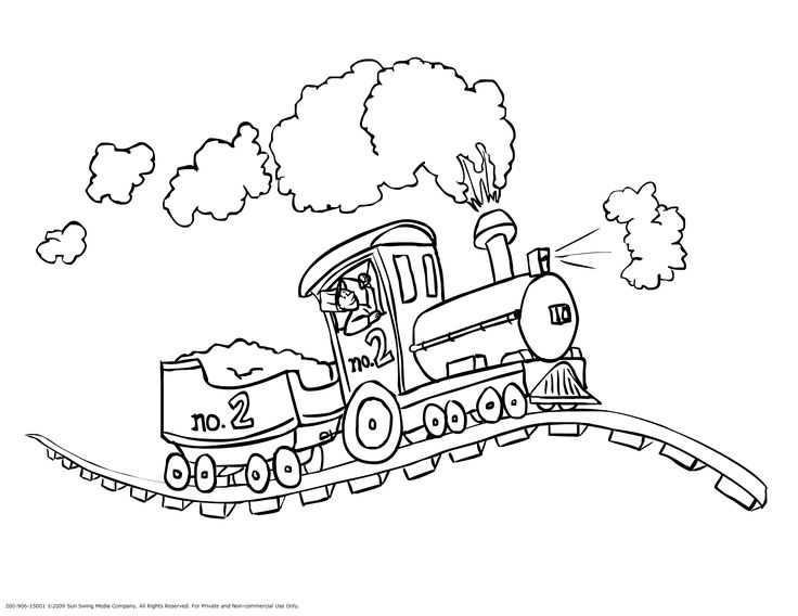 free printable train coloring pages template to print - Train Coloring Book