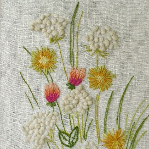 vintage crewel embroidery