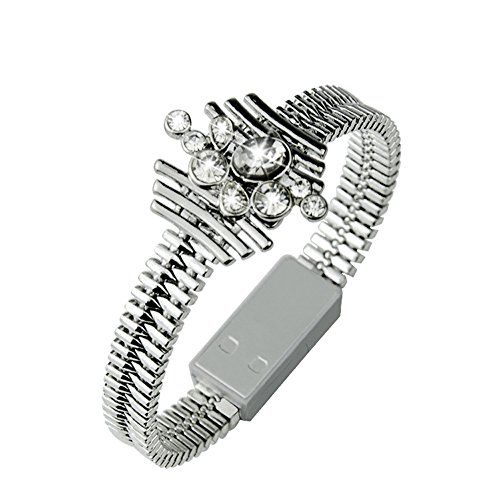 Crystal bling USB charger bracelet  Awesome idea you can charge your phone when you're out & about!  http://amzn.to/2lj9uVW