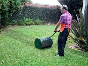 You're on a roll when you apply a turf builder after re-seeding your lawn. It helps keep the seeds damp and hides them from hungry birds. Learn more from Home Depot associate Rick .