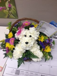 153 Best Dog and Animal Flower Arrangements images ...
