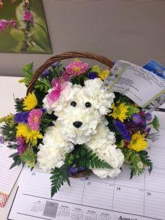 153 Best Dog and Animal Flower Arrangements images ...