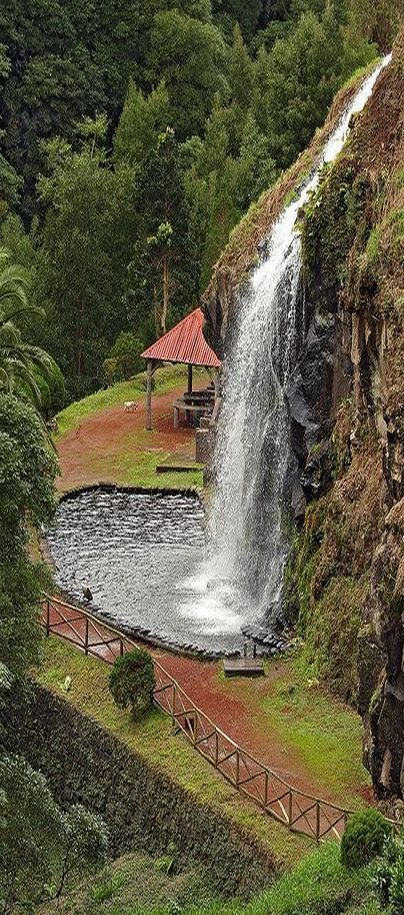 Cascada Azores Sao Miguel #by vic_206 on flickr.com #waterfall water