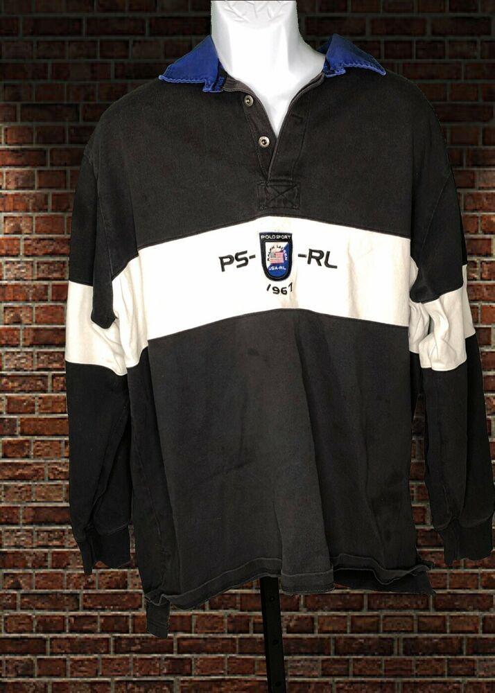 e1db1387f4c Polo Sport Ralph Lauren Mens Rugby Shirt Vintage Arctic Challenge ...: