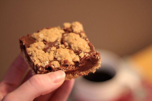 Fudge Revel Bars - they taste just like Starbucks' fudgy oat bars, only better. And cheaper. :)