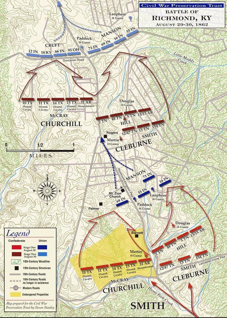 Civil War Battle Maps   The Battle of Richmond