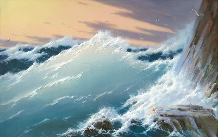 Как хорошо ты, о море ночное… Художник Георгий Дмитриев