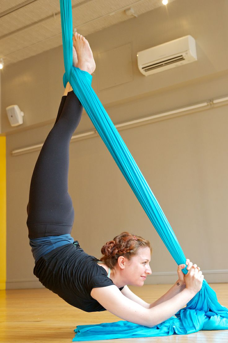 Learn to Fly!  Aerial Silks Yoga nyc Om Factory