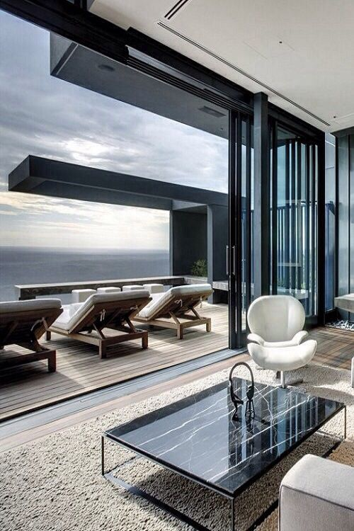 luxury penthouse deck ~ Colette Le Mason @}-,-;---