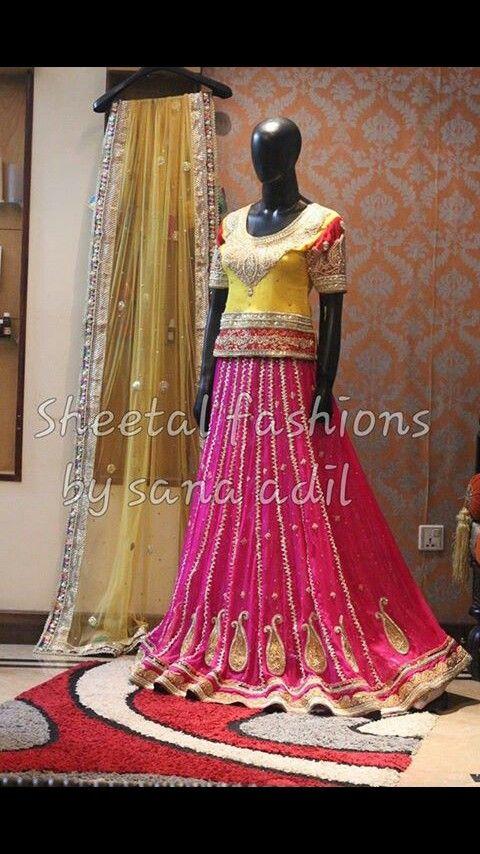 Mehndi Lehenga For Bride : Images about lehnga for mehndi event on pinterest