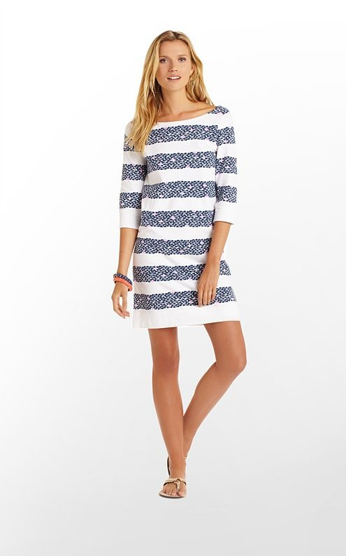Cassie Dress in Bright Navy Out of Line $148 (w/o 1/19/13) #lillypulitzer #fashion #style