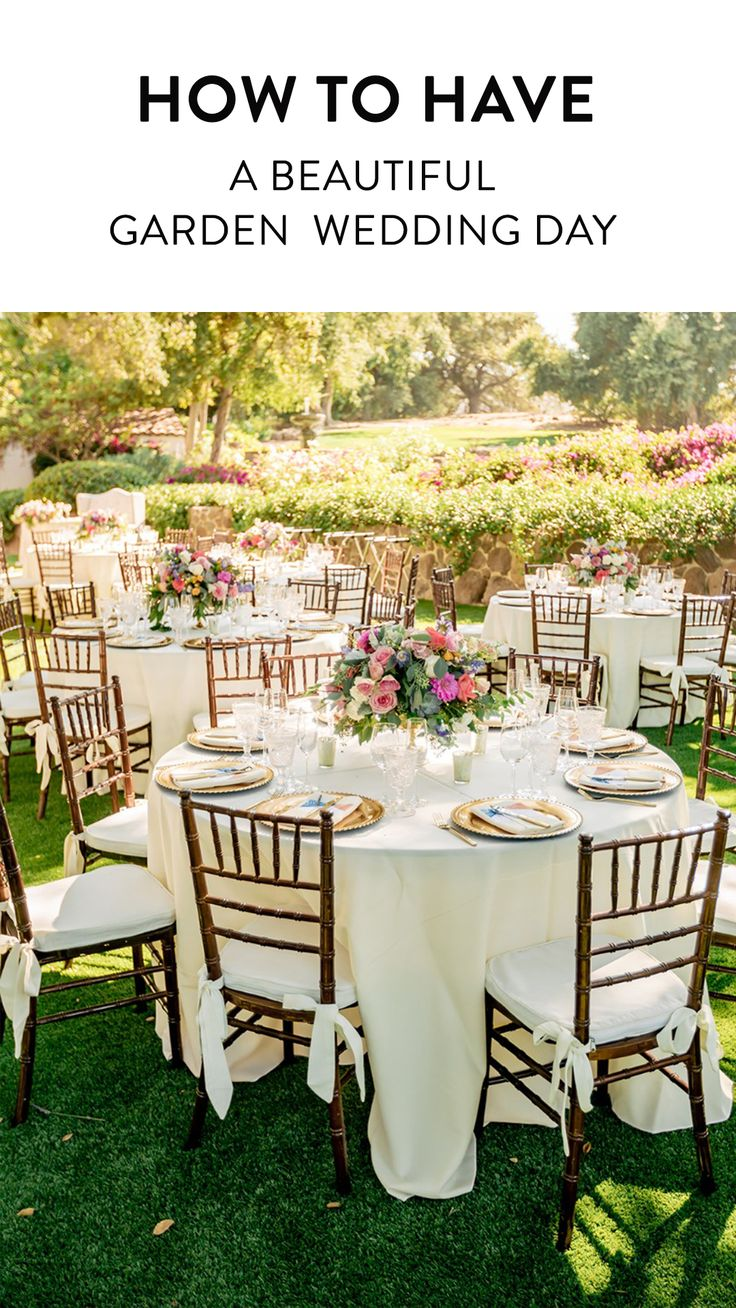 Wie man einen schönen Frühjahr-Garten-Hochzeitstag hat   – Everything Wedding