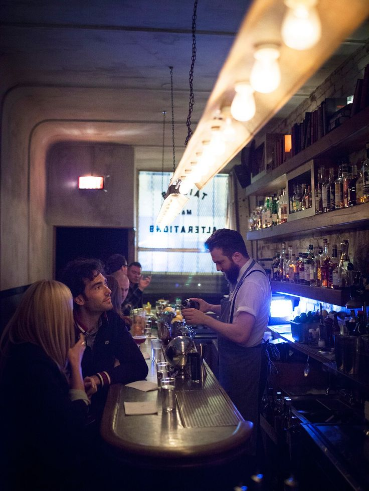 To find Attaboy, the no-menu cocktail joint on Eldridge Street in Chinatown from former Milk & Honey bartenders Michael McIlroy and Sam Ross, look for a huddle of wannabe drinkers outside its unmarked door. Crowd control at this nine-barstool, three-table spot is taken almost as seriously as the drinks themselves. That way the handsome bartenders can give proper attention to whatever they're pouring (it also means you can enjoy that $17 twist on a mescal Negroni without being crushed at the…