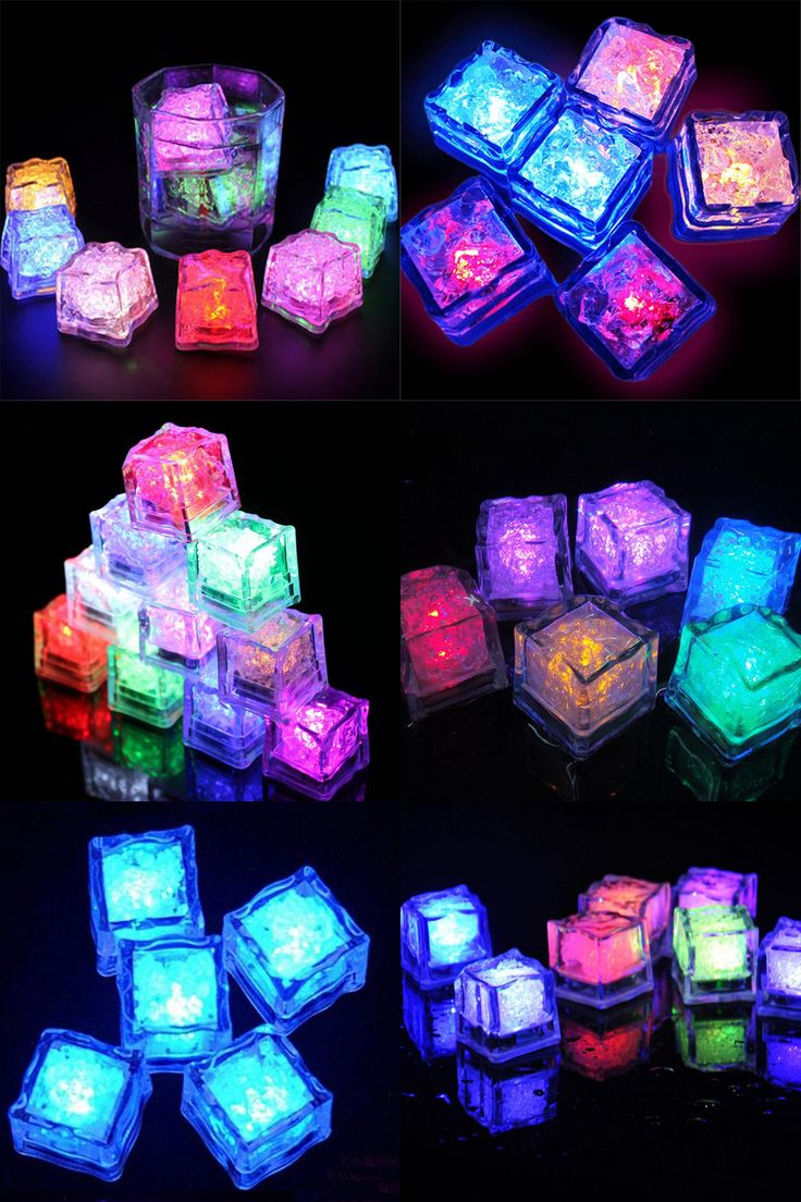 [Visit to Buy] 5pcs Water Sensor Multi Colors Changing Led Ice Cubes Event Party LED Luminous Sparkling Ices Light For Wedding Decoration #Advertisement