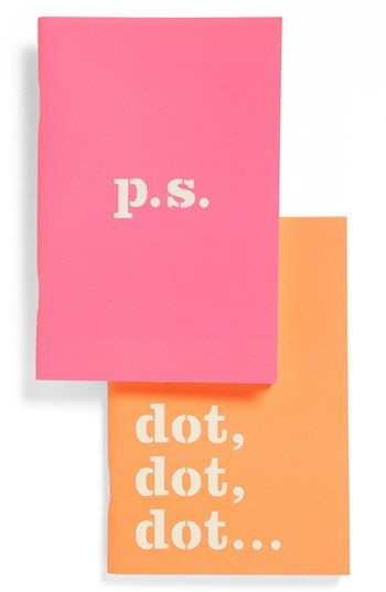 kate spade new york notebooks (set of 2) available at #Nordstrom...love to dot dot dot one!!