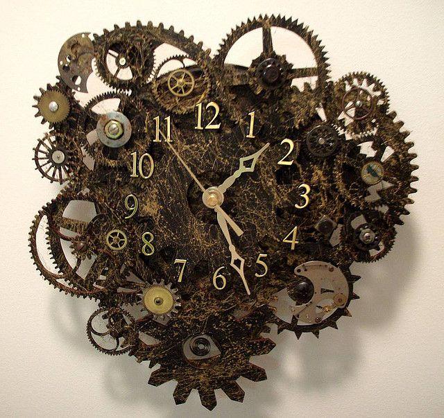 clock clockSteampunk Wall, Steampunk Clocks, Dresses Up, Offices Design, Old Clocks, Wall Clocks, Industrial Design, Tick Tock, Ticktock