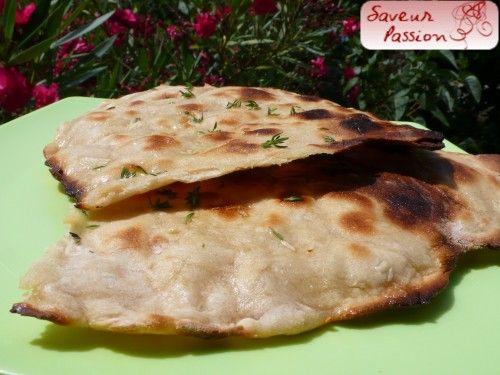 pain plat grillé - flat bread