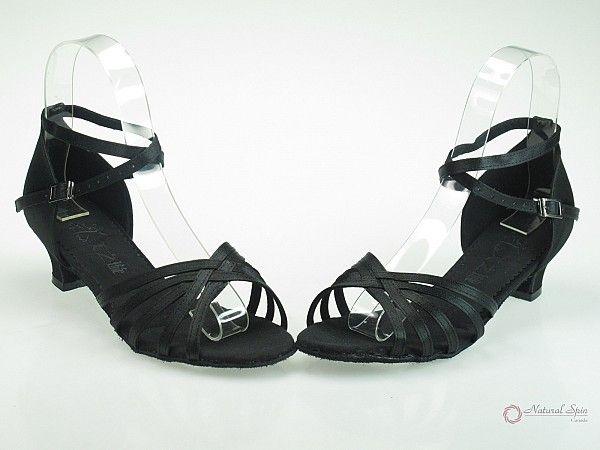 MZX Ladies Dance Shoes (Classic): Latin Shoes(Open Toe) L1101-01_BlackS_30CU_C