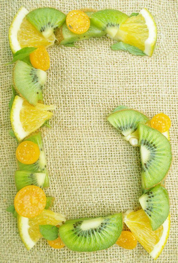 tipografia frutas on Behance