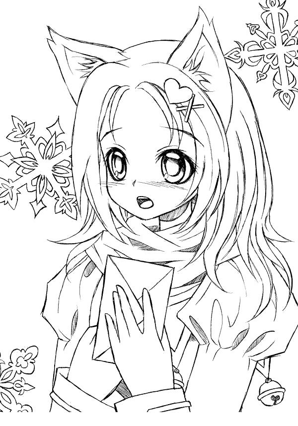 Gacha Life Coloring Pages Anime Black And White Free Printable In