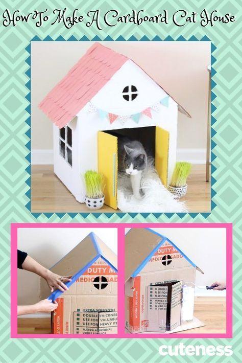 Dieses DIY ist purrfect für Katzen, die Pappe lieben und Leute, die ihr Kit lieben …  #dieses #diyforpets #katzen #leute #lieben