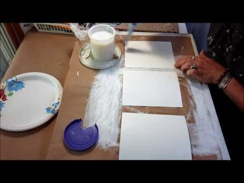 Layering Exercises step 1 - A great video series showing how to layer very effectively in creating mixed media art.