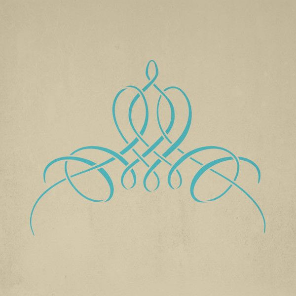 French Flourish Stencil | Royal Design Studio