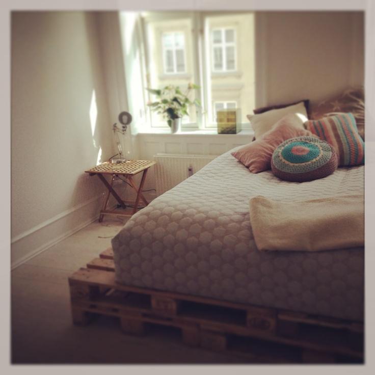 Pallet bed, europalle seng, Diy
