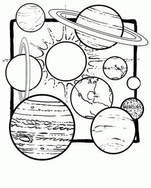 planeta tierra en el sistema solar para colorear