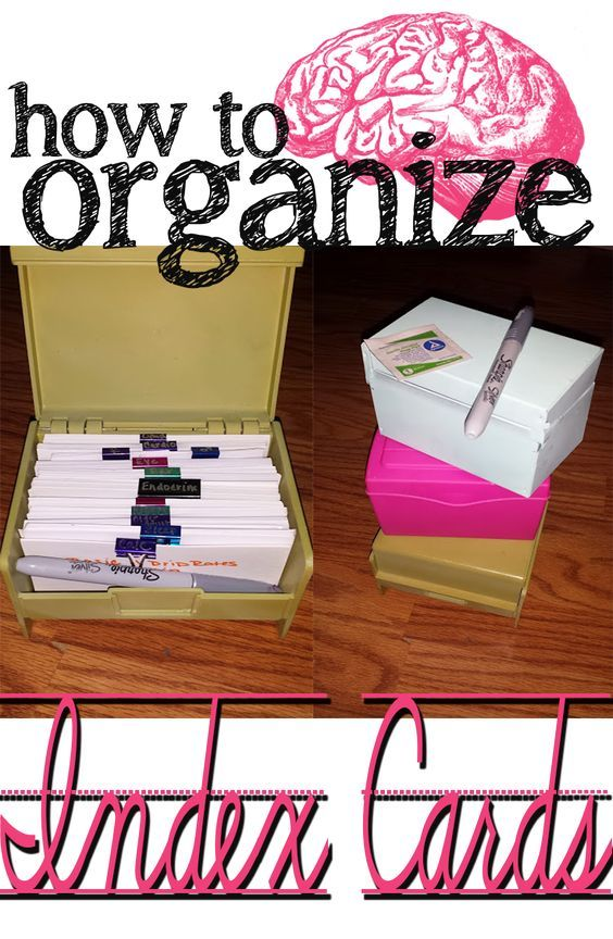 How to organize those pesky index cards! Nursing Student Blog. Scrub-ed.com  Re-pin and read for Nursing School!