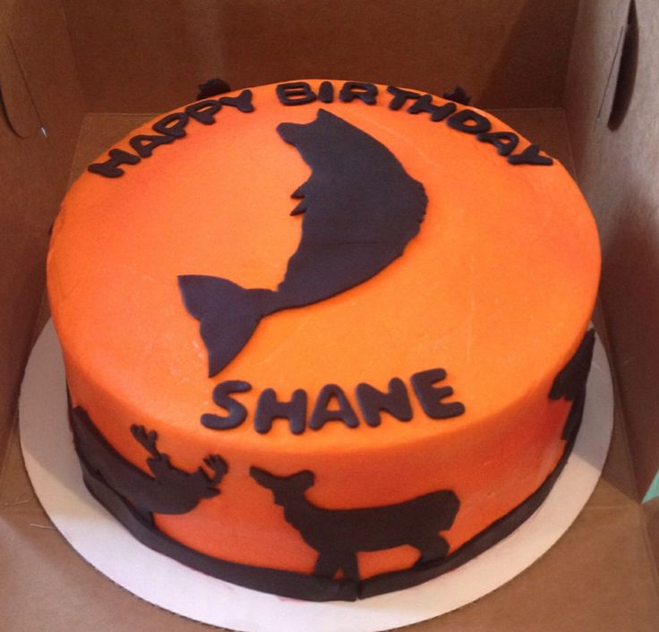 Hunting And Fishing Cake Ideas 28623