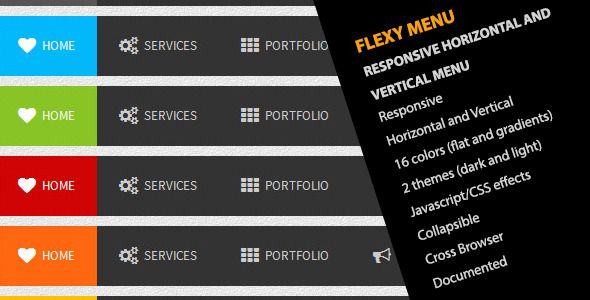 Flexy Menu - Responsive Horizontal & Vertical Menu
