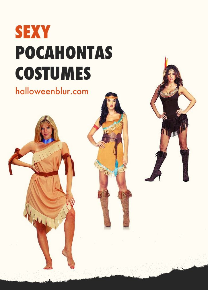Sexy Pocahontas Costumes For Adults: http://www.halloweenblur.com/halloween-pocahontas-costume-adults/ #halloweencostumes #halloween