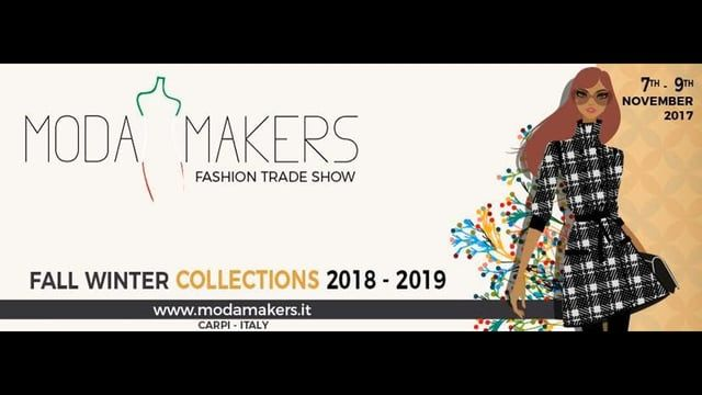 http://www.modamakers.it Moda Makers 2019 fashion trade show of italian factories producing trendy clothing lines. The private exhibition organized by local companies is a smart exhample of sharing marketing sinergy in Italy. A new business model committed to fashion buyers satisfaction