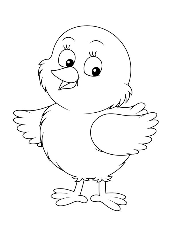 людям веселый цыпленок рисунок карандашом день делаем все