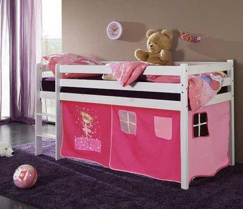 Halbhohes-Kinderbett-Hochbett-Elfentraum-90x200-NEU-OVP