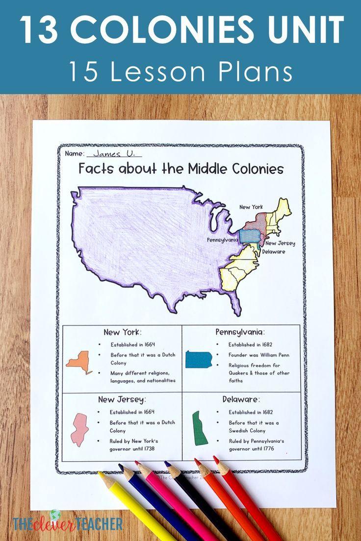 13 Colonies Unit (15 Lessons) | History lesson plans ...