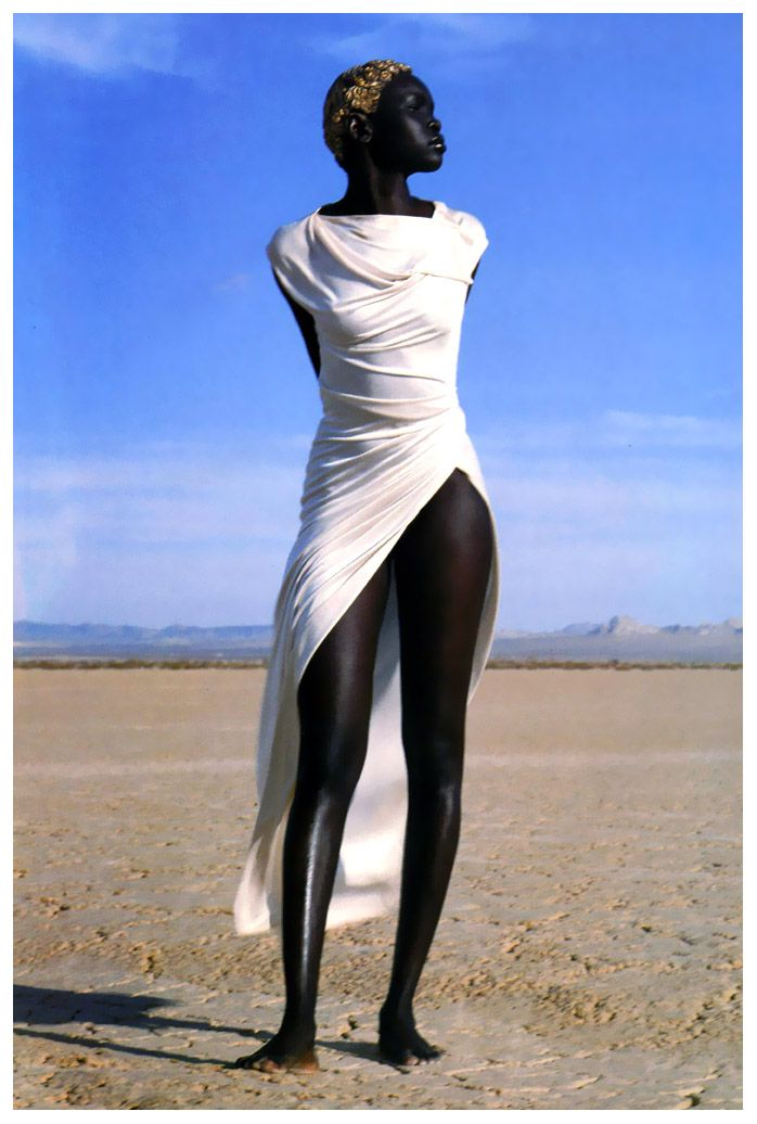 Everything about this photo is perfect. Alek Wek   1999 by Herb Ritts. Besides being virtually perfect, Alek also happens to be a UNHCR Refugee Advocate.