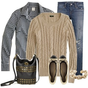 love the checker pattern with the sweater.: Autumn Fashion, Fashion Clothing, Weekend Wear, Autumn Outfit, Styles Idea, Southern Girls, Comfy Preppy Outfit, Untitl 690, Beaches Gears