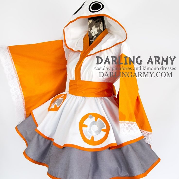 Star Wars BB-8 Kimono & Rey Pinafore http://geekxgirls.com/article.php?ID=7605