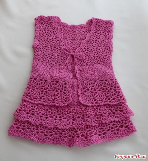 Free Crochet Patterns Baby Shower Favors : Top & Skirt free crochet pattern crochet baby/toddler ...