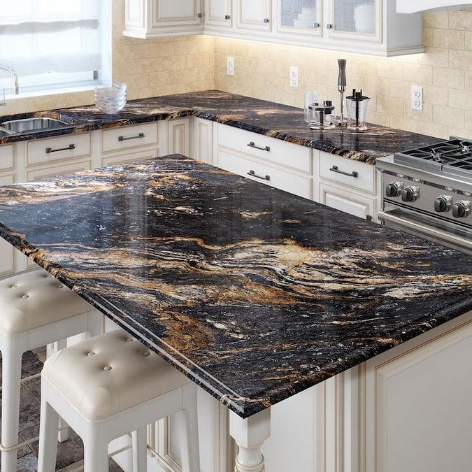 Allen Roth Galactic Storm Granite Kitchen Countertop Sample Lowes Com In 2020 Cheap Countertops Countertops Kitchen Design Trends