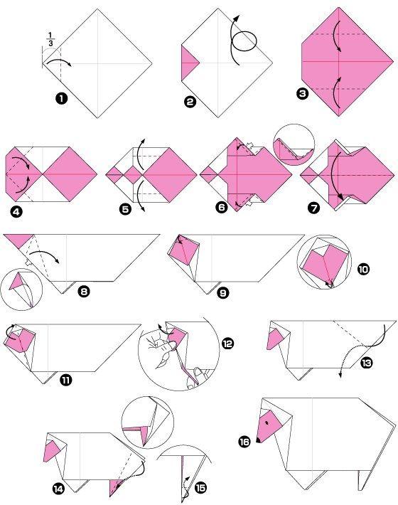 origami de mouton pliages origami pinterest origami. Black Bedroom Furniture Sets. Home Design Ideas
