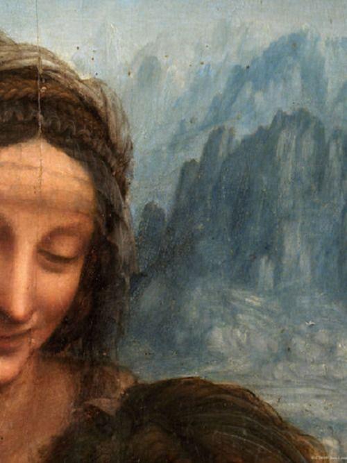 Leonardo da Vinci's Virgin and Child With Saint Anne (detail)
