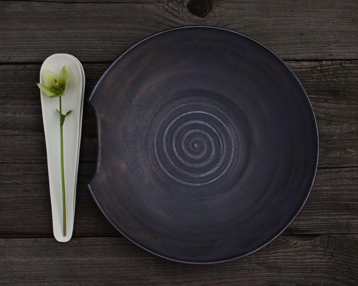 set - ceramics dish with porcelain spoons  www.polandhandmade.pl #polandhandmade #ceramika #SHE