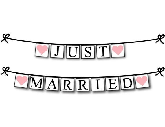 Just Married Banner Just Hitched Wedding Send Off After The Wedding Car Decoration Getaway Car Sign Just Married Banner Wedding Send Off Just Married