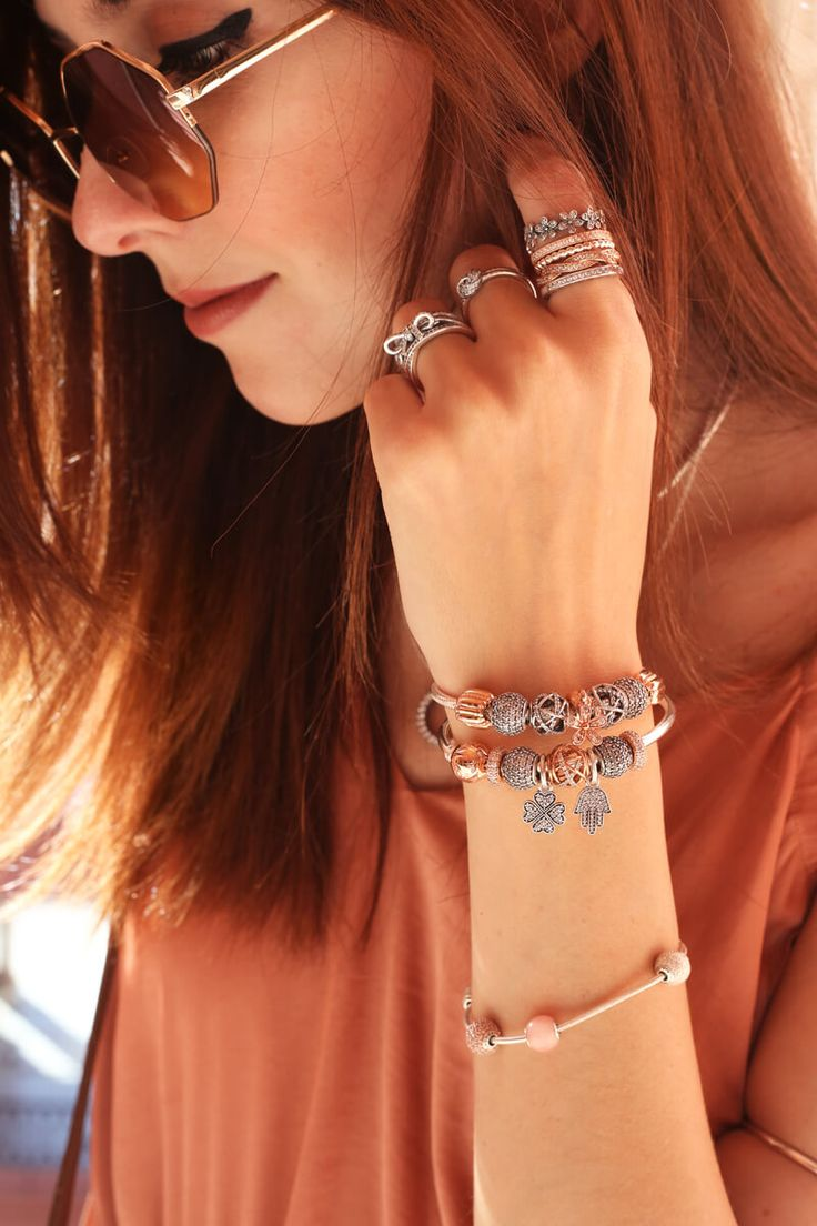 Pandora jewelry. rosé charms! <3 The Look of You.