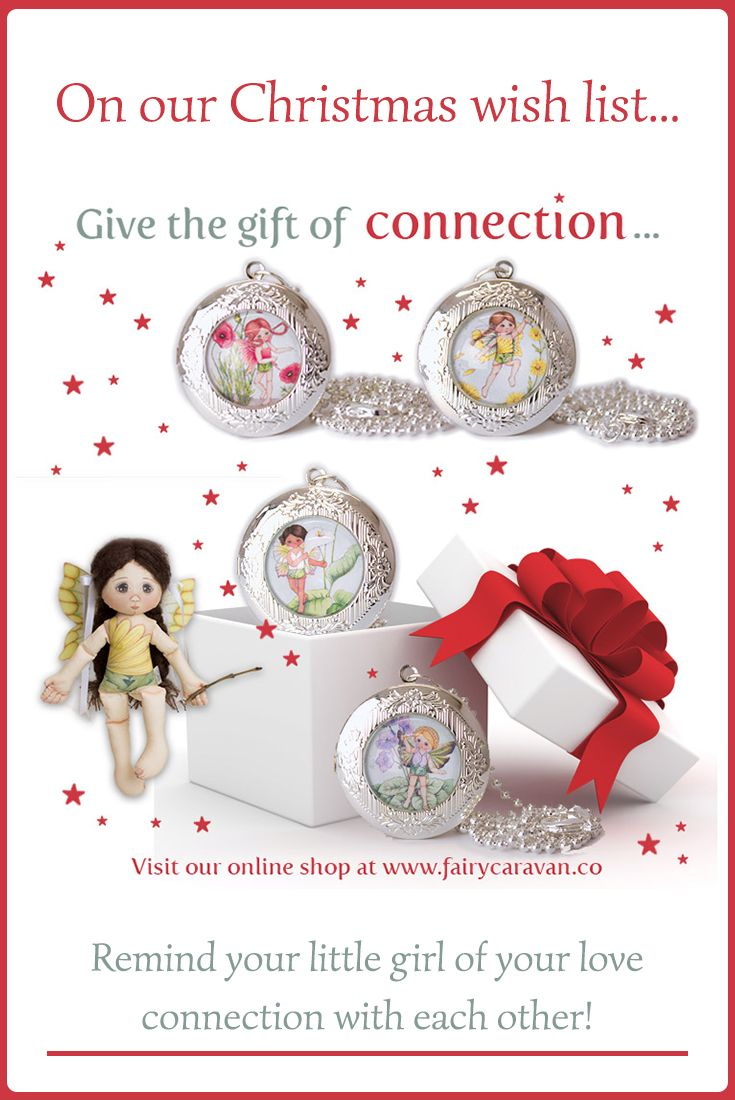 I've asked my fairy friends to share their meaningful Christmas wishes with us, and today it is Daisy's turn! #jewelryforkids #fairypendant #fairylocket #fairyjewelry